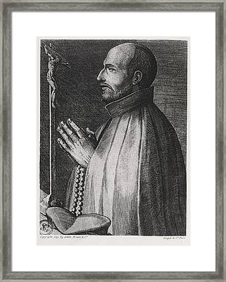 Ignatius Of Loyola, Spanish Saint Framed Print by Middle Temple Library