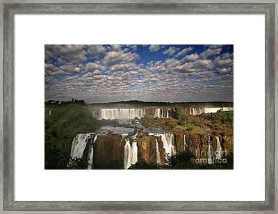 Iguassu Pano Framed Print by Keith Kapple