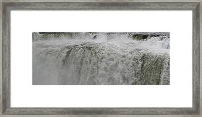 Framed Print featuring the photograph Iguazu Close Up by Andrei Fried
