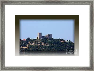 Framed Print featuring the photograph Il Castello Di San Michele Da Villanova by Mariana Costa Weldon