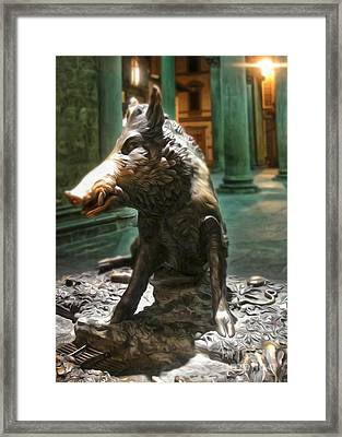 Il Porcellino - Florence Italy Boar Statue Framed Print