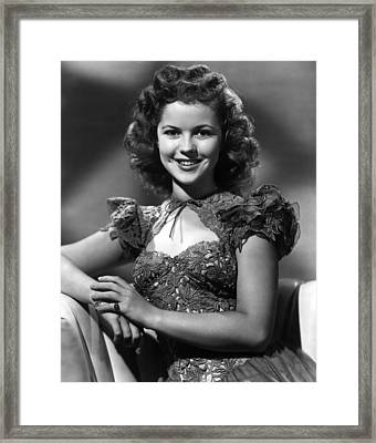 Ill Be Seeing You, Shirley Temple, 1945 Framed Print