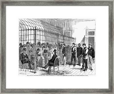 Illegal Voters, 1876 Framed Print by Granger