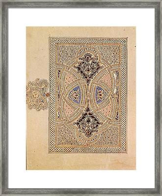 Illuminated Cover Of A Quran Framed Print by