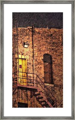 Illuminating Darkness And What's Underneath Framed Print by Janie Johnson