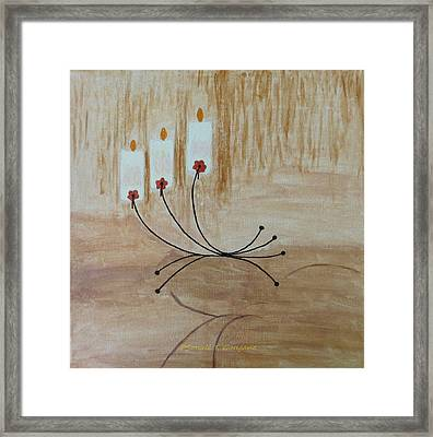 Framed Print featuring the painting Illumination by Sonali Gangane