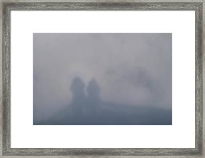 Illusion Known As Brocken Ghost Framed Print