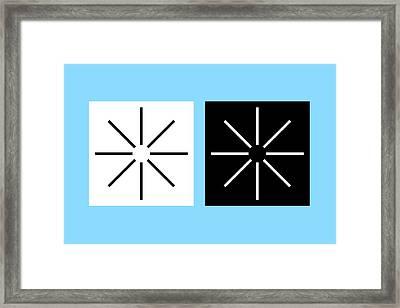 Illusory Contours Framed Print