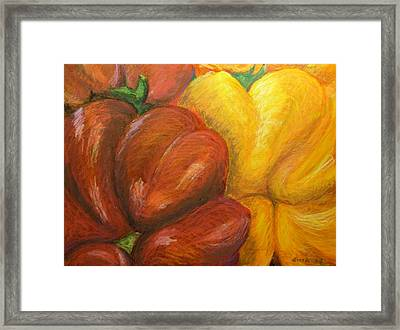 Illustrated Peppers Framed Print