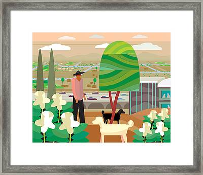 Illustration And Painting In Scottsdale Framed Print by Charles Harker