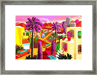 Illustration And Panting Framed Print by Charles Harker