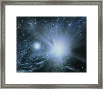 Illustration Embryo Stars Framed Print by Julian Baum