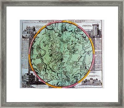 Illustration From Atlas Coelestis Framed Print by Science Source