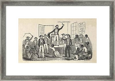 Illustration Of Fugitive Slave Henry Framed Print