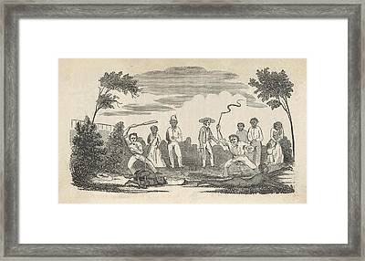 Illustration Of The Beatings Given Framed Print