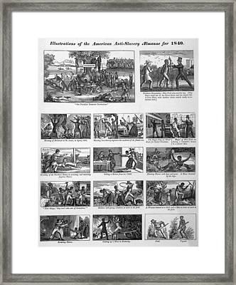 Illustrations Of The Antislavery Framed Print