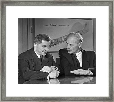 Ilyushin And Kokkinaki, Aviation Pioneers Framed Print by Ria Novosti