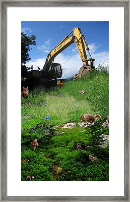 I'm A Steamroller Baby Gonna Roll Right Over You Framed Print by Ric Soulen