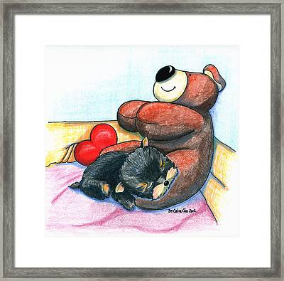 I'm Glad We Are Friends Framed Print by Catia Cho
