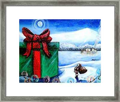 I'm Going To Need A Bigger Sleigh Framed Print by Shana Rowe Jackson