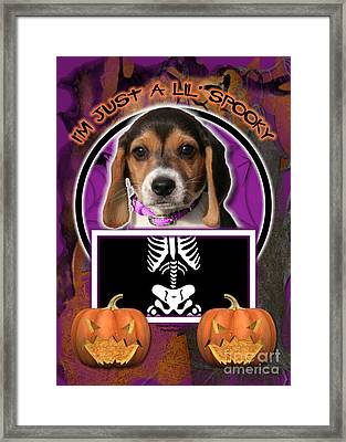 I'm Just A Lil' Spooky Beagle Puppy Framed Print by Renae Laughner