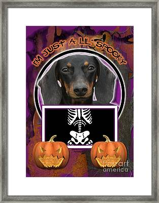 I'm Just A Lil' Spooky Dachshund Framed Print by Renae Laughner