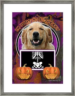 I'm Just A Lil' Spooky Golden Retriever Framed Print by Renae Crevalle