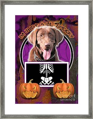 I'm Just A Lil' Spooky Labrador Framed Print by Renae Laughner