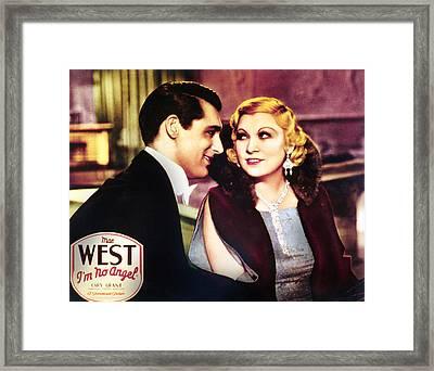 Im No Angel, Cary Grant, Mae West, 1933 Framed Print by Everett