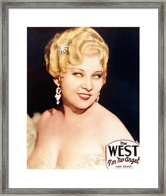 Im No Angel, Mae West, 1933 Framed Print by Everett