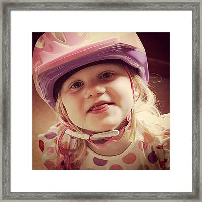 I'm Ready For My Bike Dash... #jj Framed Print