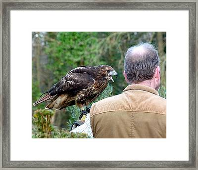 Im Talking To You Framed Print by Karen Grist