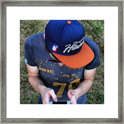 I'm Thinking.... #person #guy #hat Framed Print