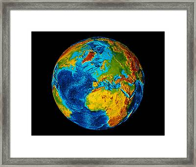 Image Of Earth Generated By Computer Graphics Framed Print by Stocktrek