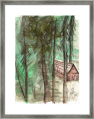 Imaginary Cabin Framed Print by Windy Mountain