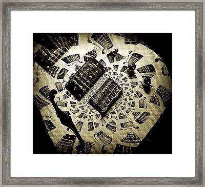 Imaginary Guitar Framed Print by Chris Berry