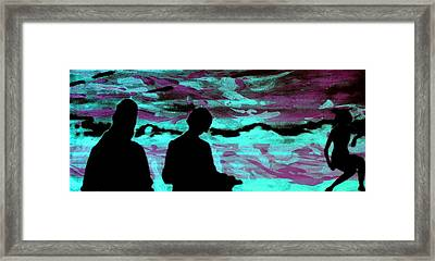 Imaginary Landscape - Fluorescence Serigraphy Framed Print