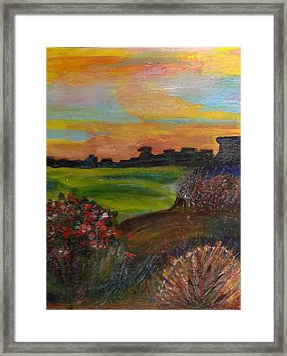 Imaginary View Of Golf Course Framed Print by Anne-Elizabeth Whiteway
