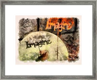 Imagine Framed Print by Clare VanderVeen