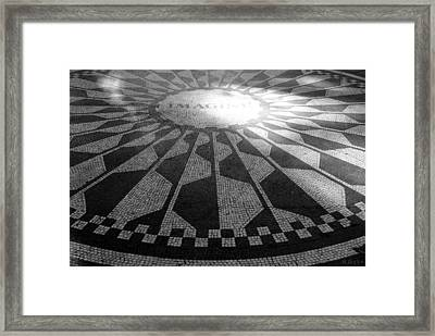Imagine In Black And White Framed Print by Rob Hans