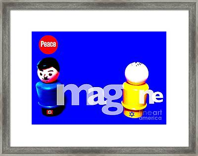 Imagine Peace Framed Print by Ricky Sencion