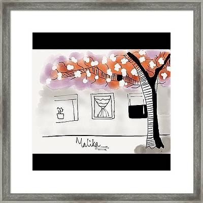 #imagine #tree #winter #igdaily Framed Print