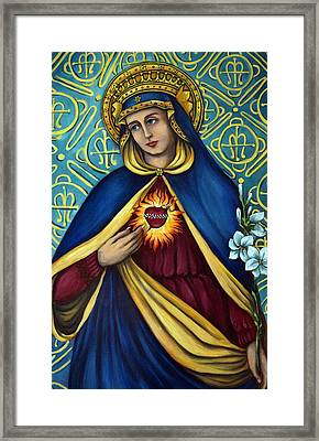 Immaculate Heart Framed Print by Valerie Vescovi
