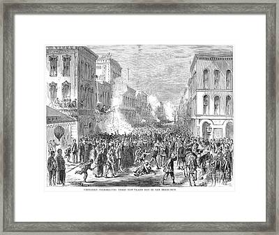 Immigrants: Chinese, 1871 Framed Print by Granger