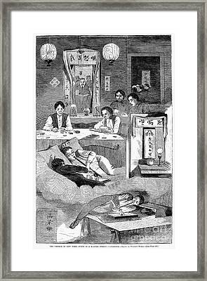 Immigrants: Chinese, 1874 Framed Print