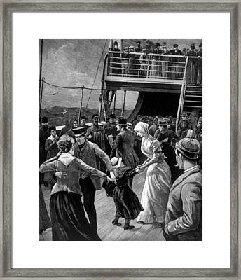 Immigrants Dancing In The Steerage Framed Print