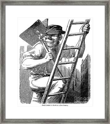 Immigrants: Irish, 1852 Framed Print by Granger