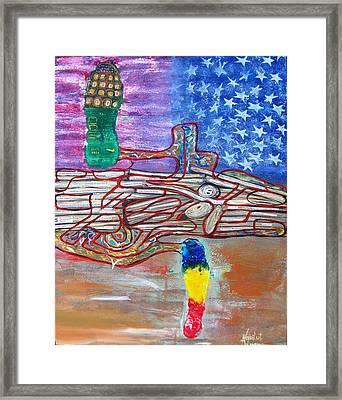 Immigration Step Framed Print by Adriana Vasilut