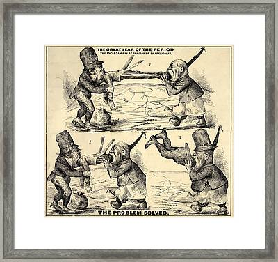 Immigration. The Great Fear Framed Print by Everett