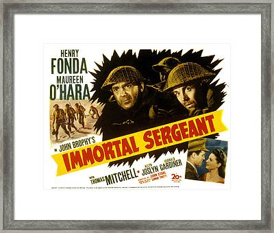 Immortal Sergeant, Thomas Mitchell Framed Print by Everett